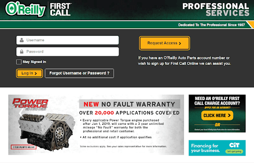 FirstCallOnline – The Guideline for O'Reillys Auto Parts Customers