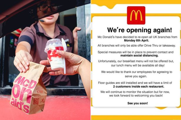 Mcdonald's Drive Thru Outlet To Be Reopen Soon