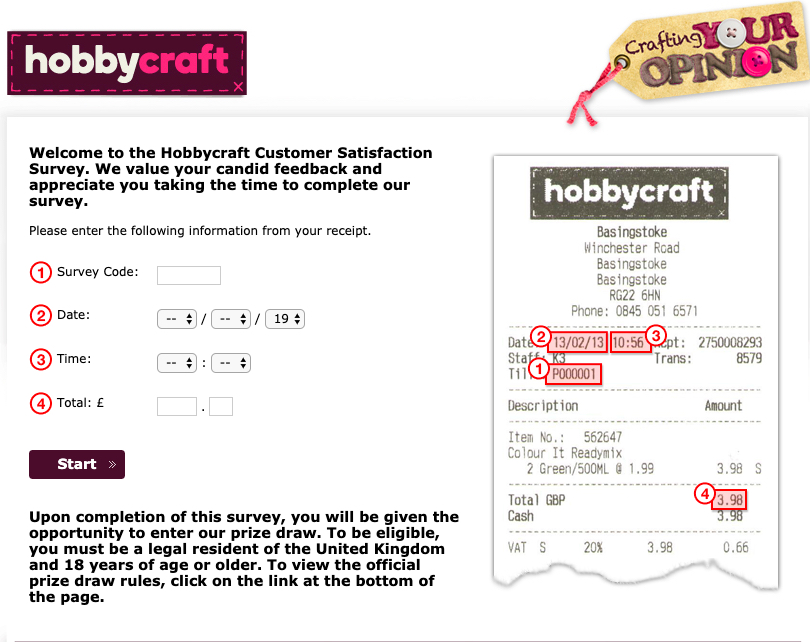 Hobby Craft Survey and $ 100 Hobby Craft Gift Card