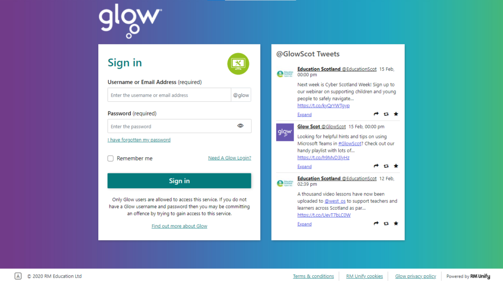 COMPLETE GLOW LOGIN INSTRUCTIONS