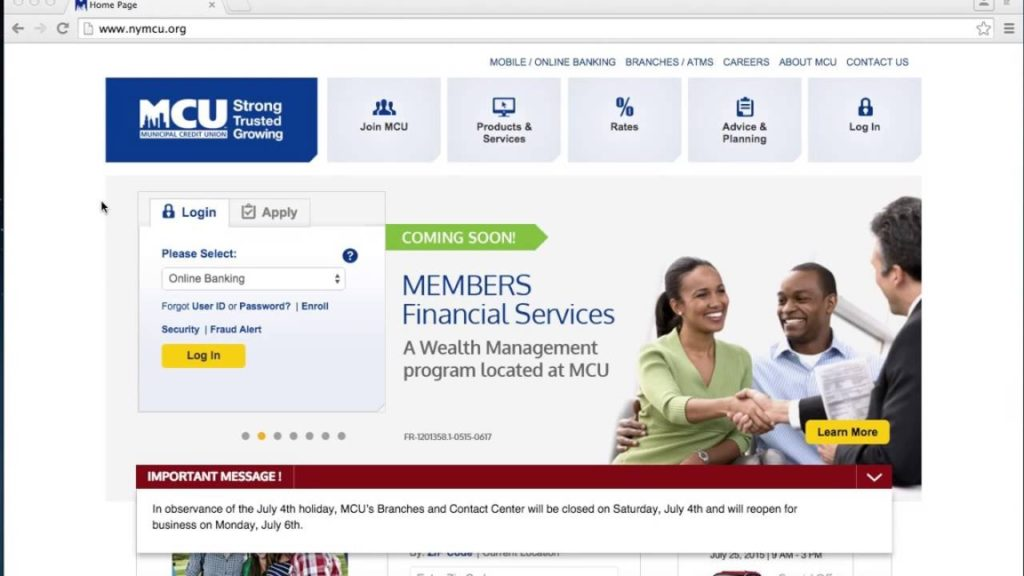 MCU Login Page-Missouri Credit Union Account