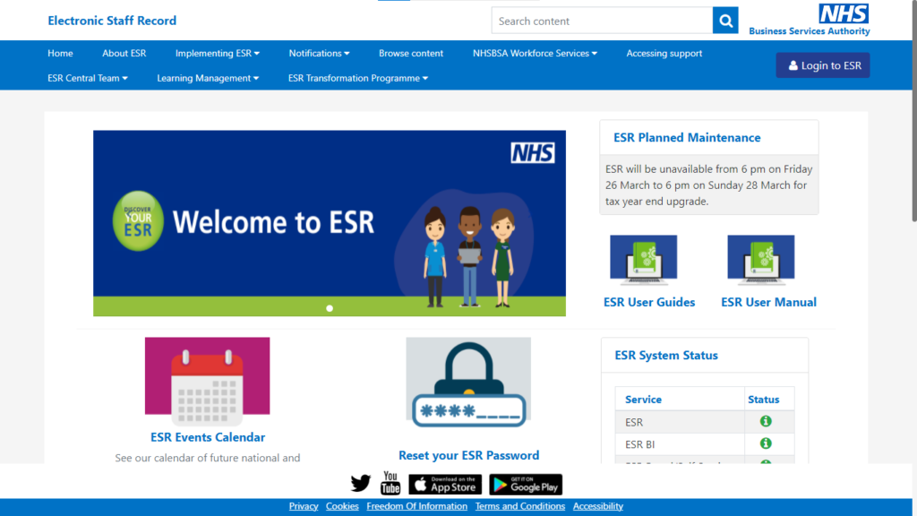 ESR Login- Employees Log In To Self-Service And Set Up