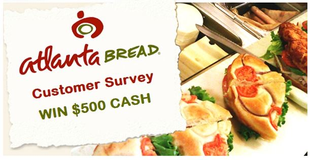 www.atlantabreadlistens.com-Atlanta Bread Customer Satisfaction Survey