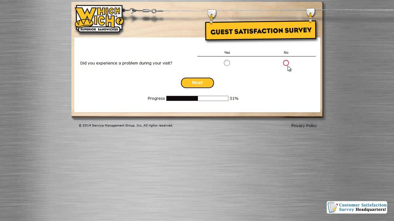 Whichwich Guest Satisfaction Survey