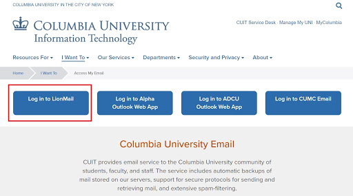 Log In To Mycolumbia-Activate Your MyUNI Account